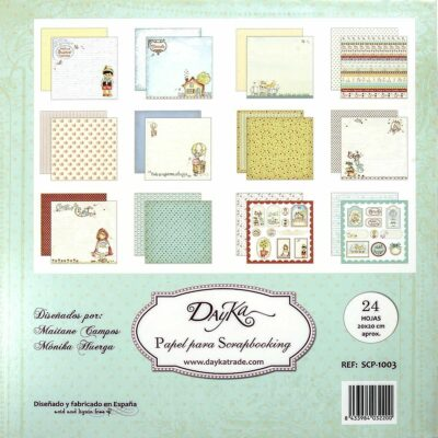 Dayka Trade CUENTOS la esquinita del scrap scrapbook coleccion papeles die cuts sellos stickers pads 3