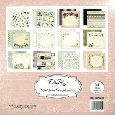Dayka Trade FLORES la esquinita del scrap scrapbook coleccion papeles die cuts sellos stickers pads 4