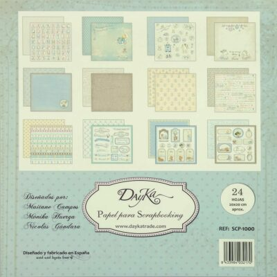 Dayka Trade NIÑO la esquinita del scrap scrapbook coleccion papeles die cuts sellos stickers pads