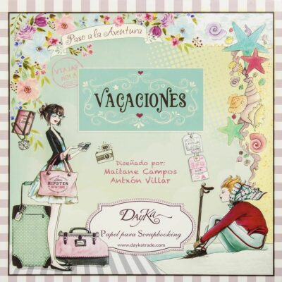 Dayka Trade VACACIONES la esquinita del scrap scrapbook coleccion papeles die cuts sellos stickers pads