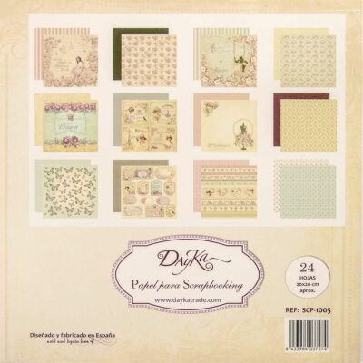 Dayka Trade VINTAGE la esquinita del scrap scrapbook coleccion papeles die cuts sellos stickers pads