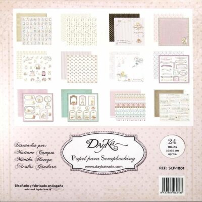 Dayka Trade la princesa de la casa la esquinita del scrap scrapbook coleccion papeles die cuts sellos stickers pads 1