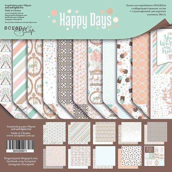 HAPPY DAYS - Scrapmir chipboard la esquinita del scrap tienda online scrapbooking scrapbook papeles stickers die cuts blocs colecciones