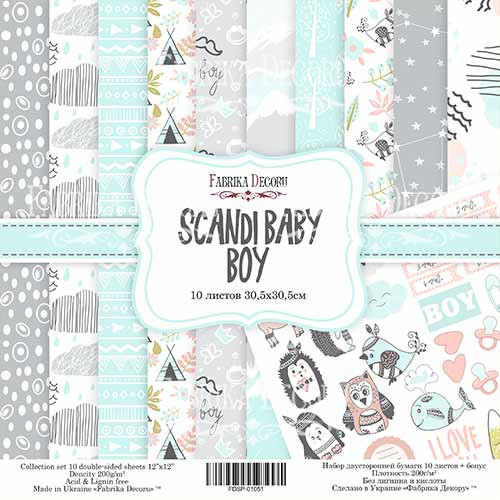 Scandi Baby Boy - FABRIKA DECORU scrapbook la esquinita del scrap tienda online de scrapbooking venta de colecciones papeles stickers die cuts chapas troqueles suajes sellos 14