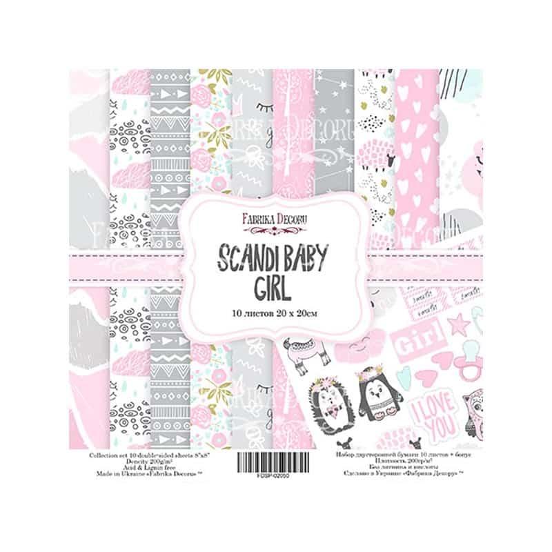 Scandi Baby Girl - FABRIKA DECORU scrapbook la esquinita del scrap tienda online de scrapbooking venta de colecciones papeles stickers die cuts chapas troqueles suajes sellos 14b