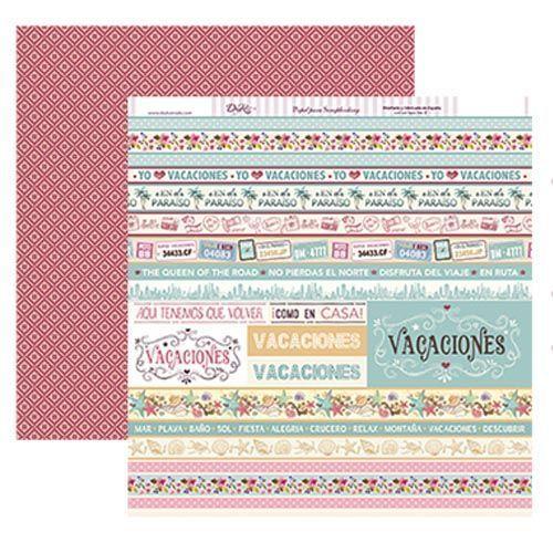 PAPEL VACACIONES - Dayka Trade - la esquinita del scrap scrapbook coleccion papeles die cuts sellos stickers pads