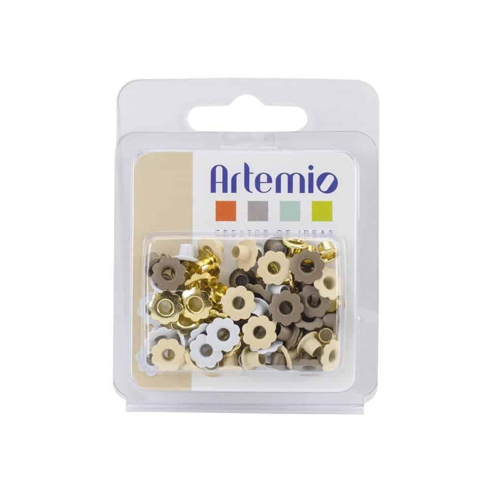 11006012 sueño blanco eyelets mini ojales - Artemio Perforadora de bordes estrellas la esquinita del scrap scrapbooking papeles colecciones sellos tintas die cuts online