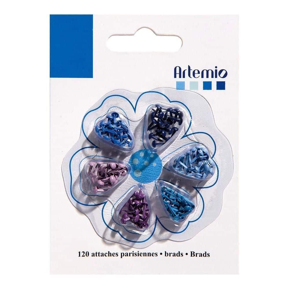 11006071 set 120 brads azul encuadernadores - Artemio la esquinita del scrap scrapbooking papeles colecciones sellos tintas die cuts online 1