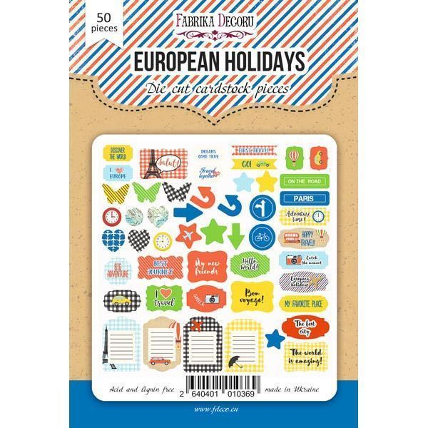 EUROPEAN HOLIDAYS DIE CUTS - FABRIKA DECORU la esquinita del scrap scrapbooking papeles stickers perforadoras colecciones sellos tintas troquelados online 1
