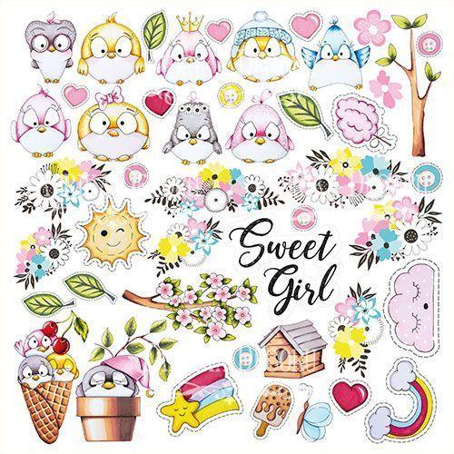 MY TINY SPARROW GIRL - FABRIKA DECORU la esquinita del scrap scrapbooking papeles stickers perforadoras colecciones sellos tintas die cuts online