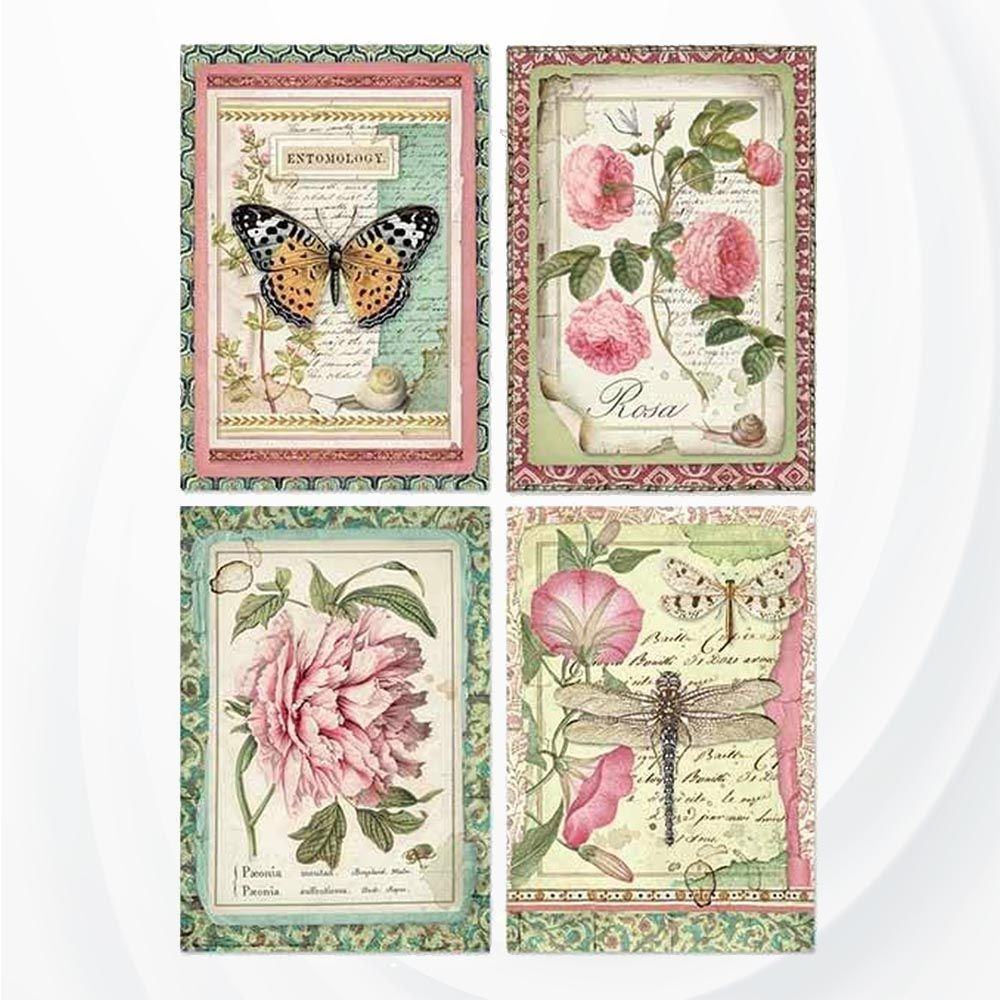 Craft Arroz Decoupage Papel Scrapbooking Decoupage Hojas Vintage Flor