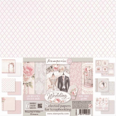 Wedding 2019 - STAMPERIA - scrapbook la esquinita del scrap online de scrapbooking coleccion papel stickers die cuts chapas troqueles suajes sellos