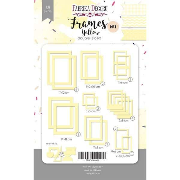 yellow set de 50 marcos frames fabrika decoru la esquinita del scrap México scrapbooking 3