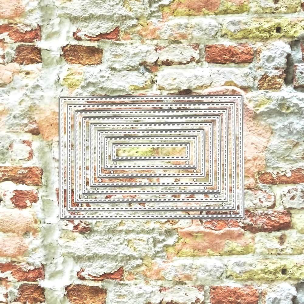 12921 nido rectángulos - SUAJE SUZZY CUT N CUT metálico die cut troquel La esquintia del scrap México tienda online