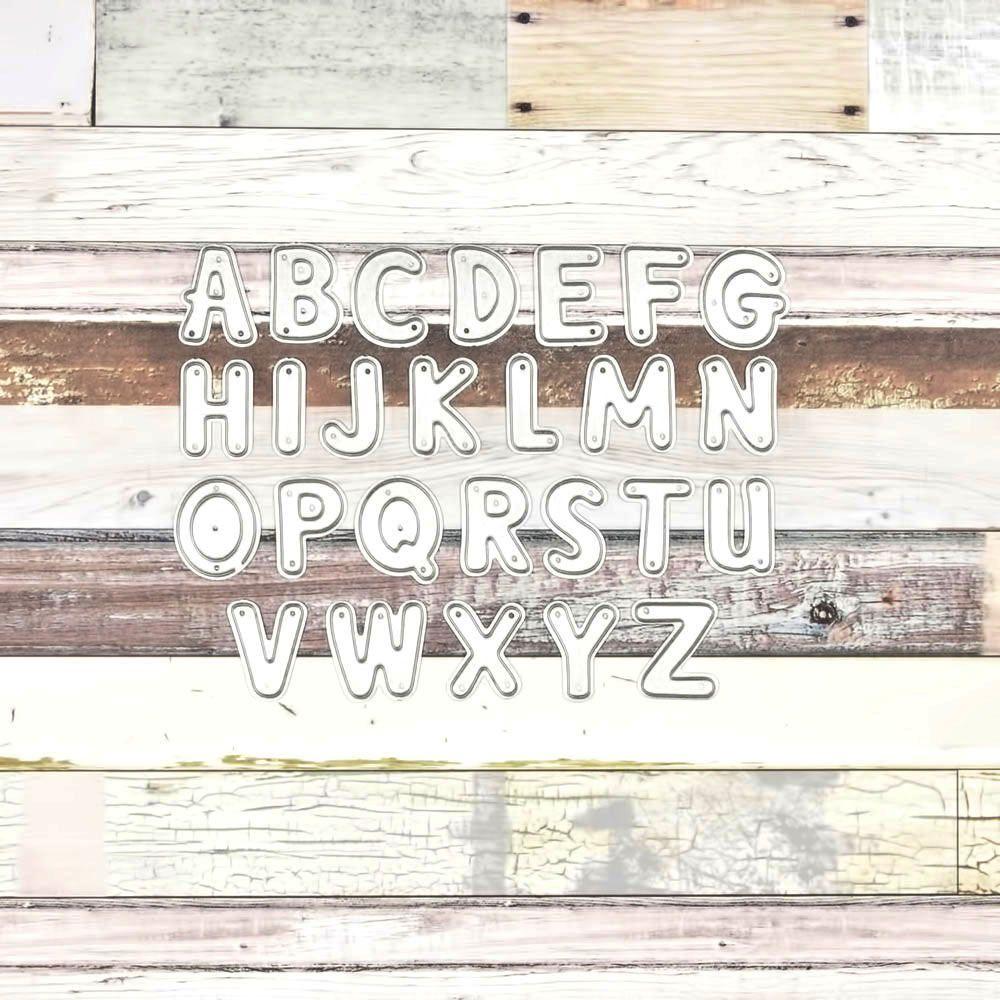 15911 letras mayúsculas - SUAJE SUZZY CUT N CUT metálico die cut troquel La esquintia del scrap México tienda online