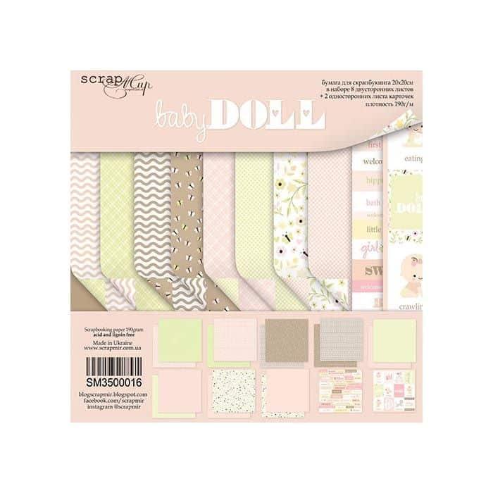 BABYDOLL - Scrapmir chipboard la esquinita del scrap tienda online scrapbooking scrapbook papeles stickers die cuts blocs colecciones 7-min