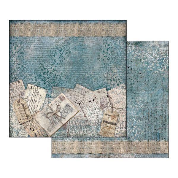 BLUES - STAMPERIA - scrapbook la esquinita del scrap online de scrapbooking coleccion papel stickers die cuts chapas troqueles suajes sellos