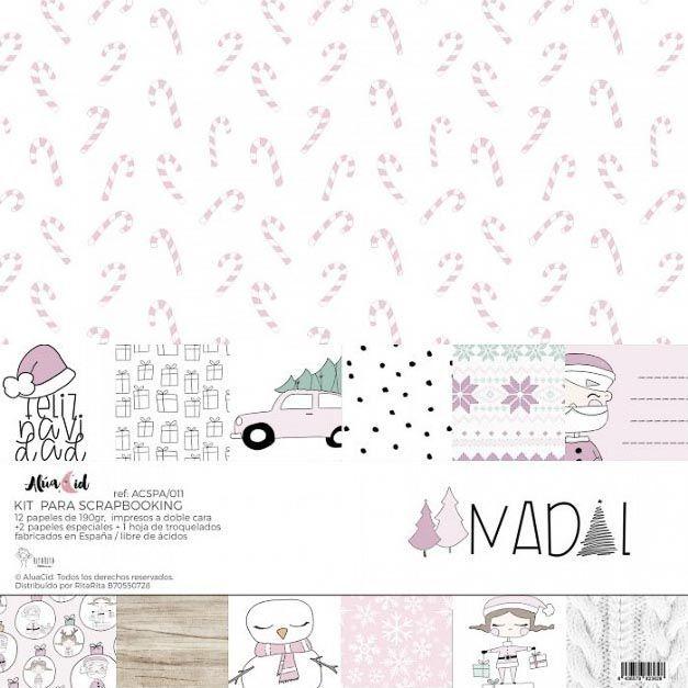 NADAL - Alúa Cid scrapbook la esquinita del scrap tienda online de scrapbooking venta de colecciones papeles stickers die cuts chapas troqueles suajes sellos