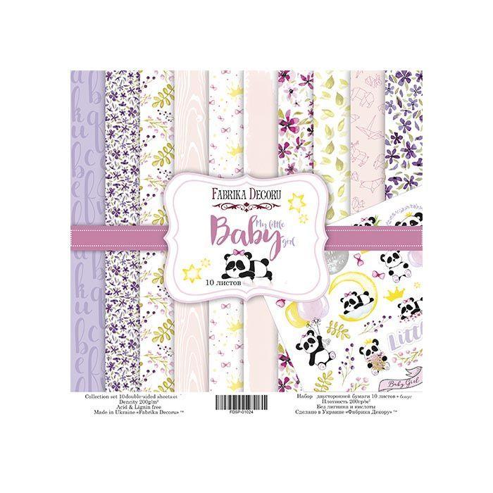 MY LITTLE BABY GIRL - FABRIKA DECORU la esquinita del scrap scrapbooking papeles stickers perforadoras colecciones sellos tintas die cuts online 1b