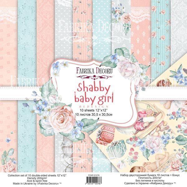 SHABBY BABY GIRL - Fabrika Decoru scrapbooking colección papeles niña bebé infantil retro la esquinita del scrap México 16