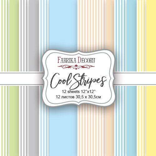 Cool Stripes - básicos rayas Fabrika Decoru scrapbooking La esquinita del scrap México