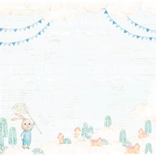 DREAMY BABY BOY - Fabrika Decoru scrapbooking colección bebe niño conejos La esquinita del scrap México