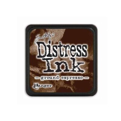ground espresso MINI DISTRESS INK PAD - ranger Tim Holtz la esquinita del scrap Mexico scrapbook