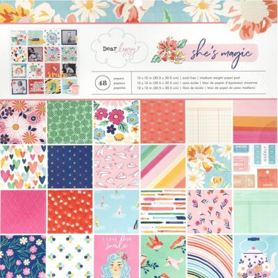 papeles pad She's Magic Dear Lizzy scrapbook La esquinita del scrap México