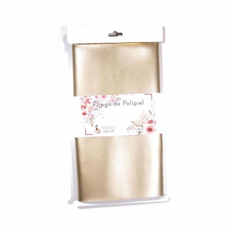 polipiel SUZZY encuadernación midori ecopiel scrapbook La esquinita del scrap México POLIBRO2 - GOLD marrón café
