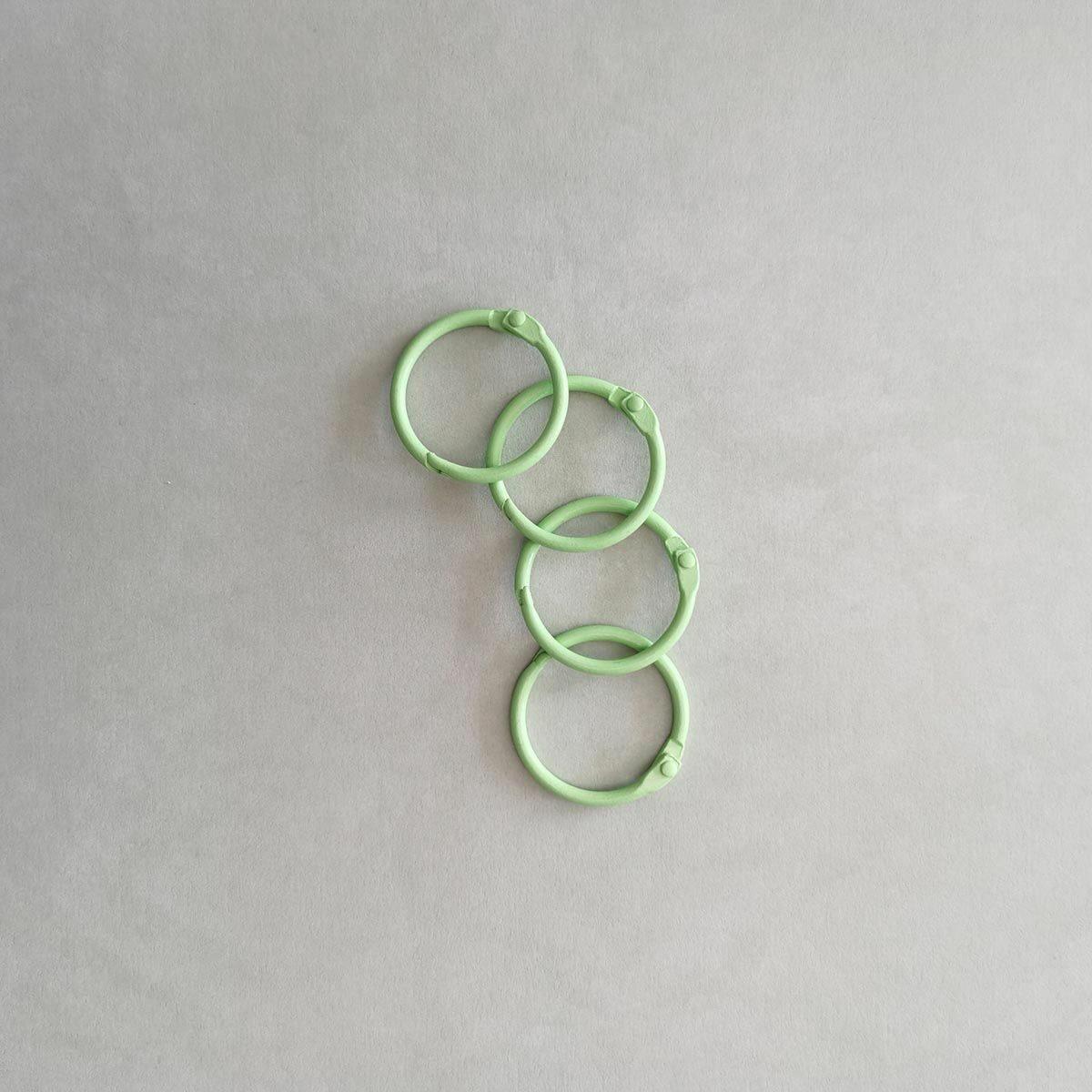 Anilla verde Kimidori 30 mm tipo aro ring para encuadernar metálicas scrapbooking La esquinita del scrap México