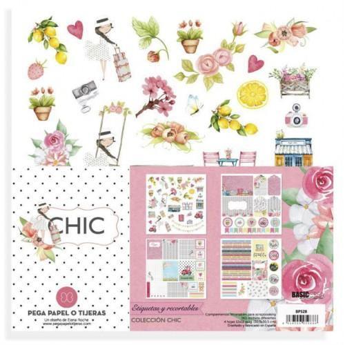 colección CHIC recortables de Elena Roche scrapbook La esquinita del scrap México