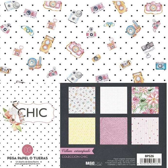 colección vellums CHIC de Elena Roche scrapbook La esquinita del scrap México