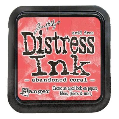 abandoned coral DISTRESS INK PAD - ranger Tim Holtz la esquinita del scrap Mexico scrapbook 2