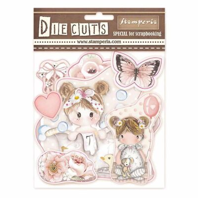 die cuts coleccion LITTLE GIRL de Stampería SBBL67 scrapbooking La esquinita del scrap México