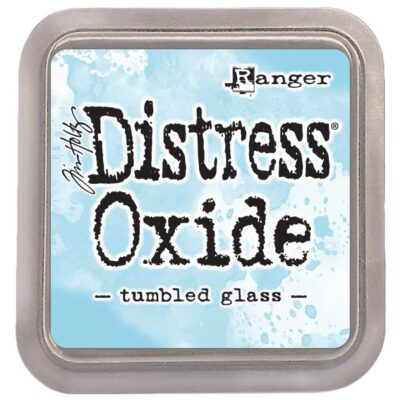 tumbled glass DISTRESS OXIDE INK PAD - ranger Tim Holtz la esquinita del scrap Mexico scrapbook