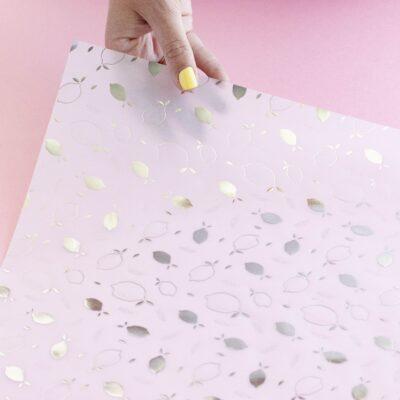 papel vellum con foil plateado BALI Lora Bailora scrapbook La esquinita del scrap México