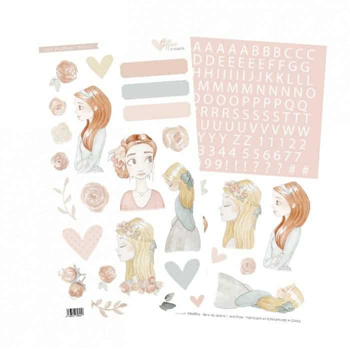 set stickers colección TOFFEE Alúa Cid scrapbook La esquinita del scrap México