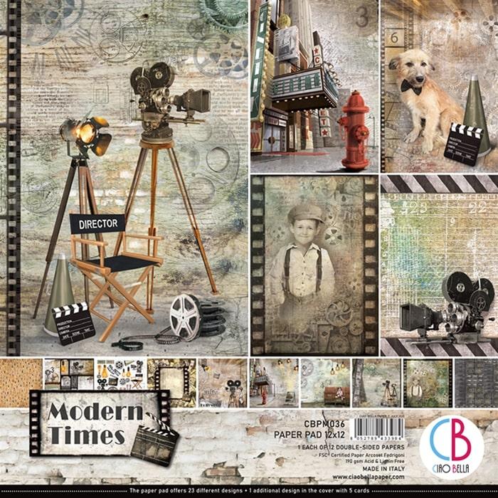 modern times ciao bella cine películas chaplin hollywood scrapbook La esquinita del scrap México