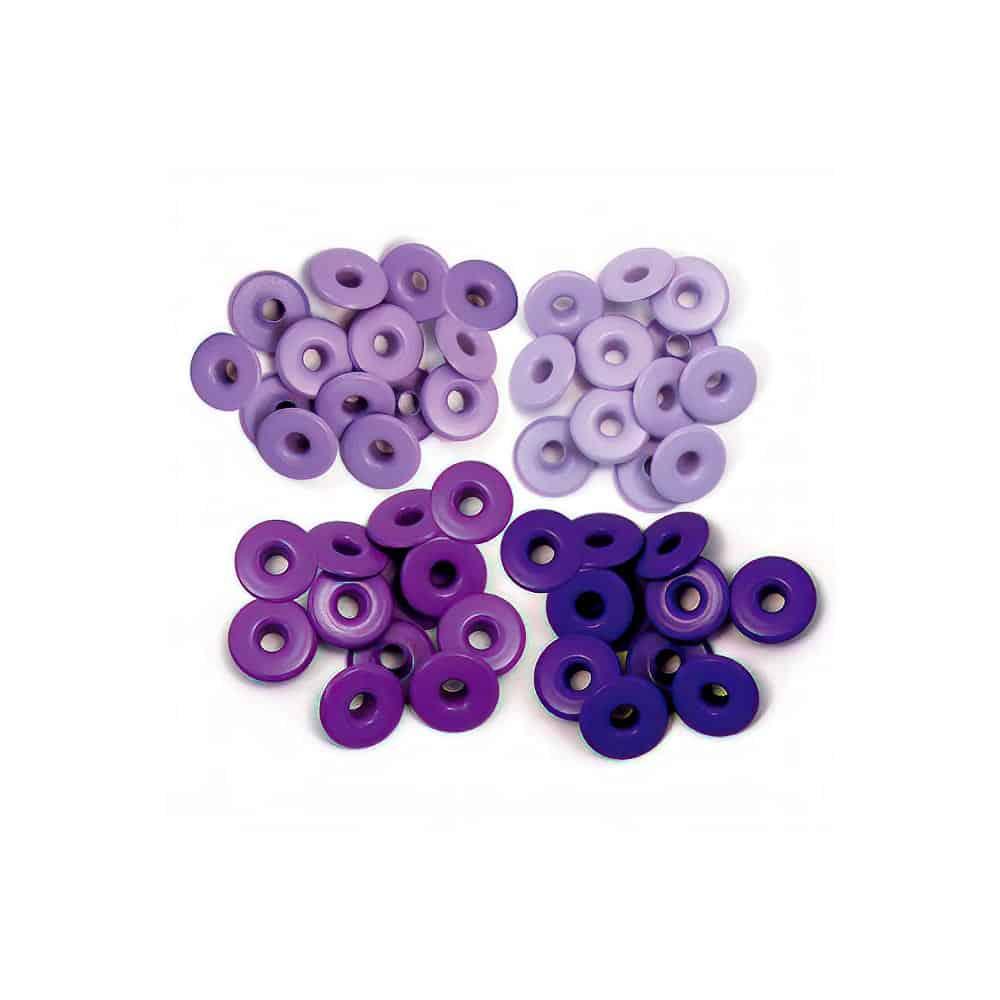 ojillos eyelets wide purple anchos morados púrpura lila WRMK We R Memory Keepers scrapbook La esquinita del scrap México