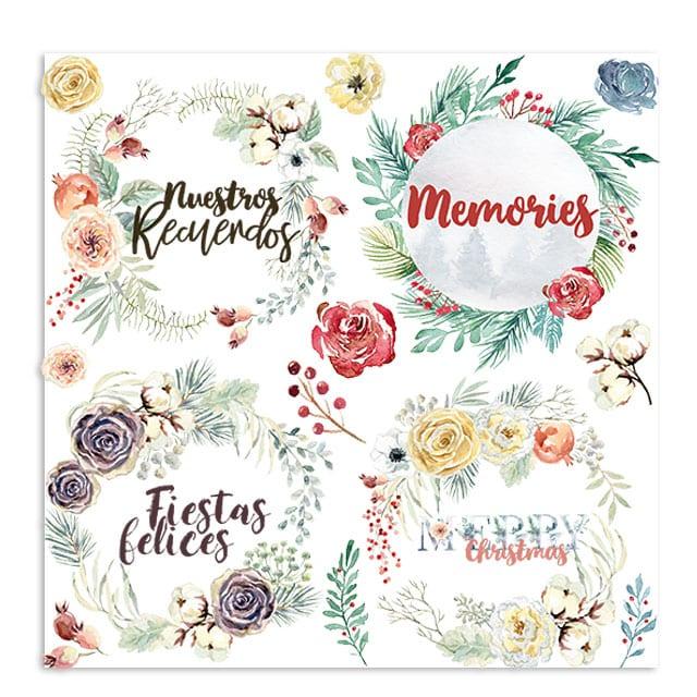 colección GRATITUD Johanna RIvero navidad invierno scrapbook La esquinita del scrap México