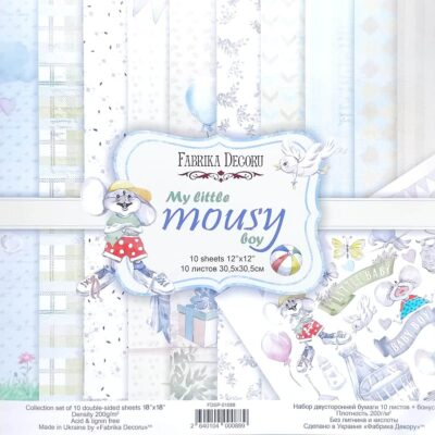 my little mousy boy Fabrika Decoru scrapbook infantil niña La esquinita del scrap México