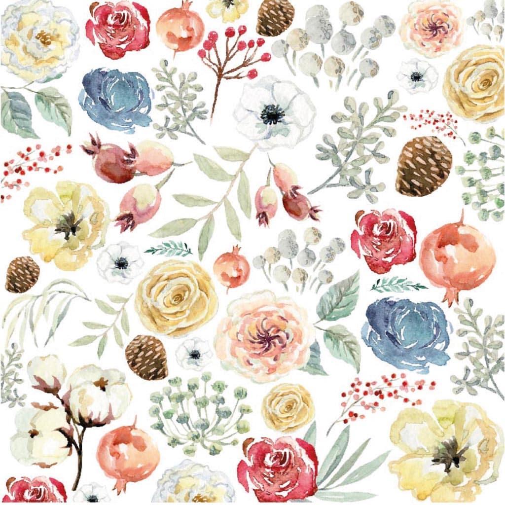 pack vellum flores colección GRATITUD Johanna RIvero navidad invierno scrapbook La esquinita del scrap México 1