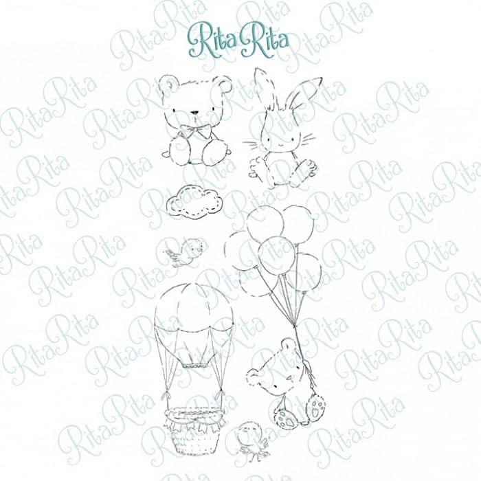 sello panda XL pequeño panda infantil bebé niño niña alúa cid scrapbook La esquinita del scrap México 1