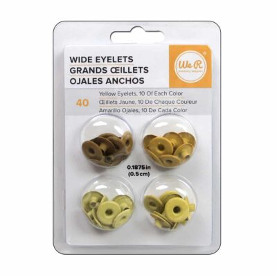 wide anchos ojillos eyelets amarillo yellow WRMK We R Memory Keepers crop a dile