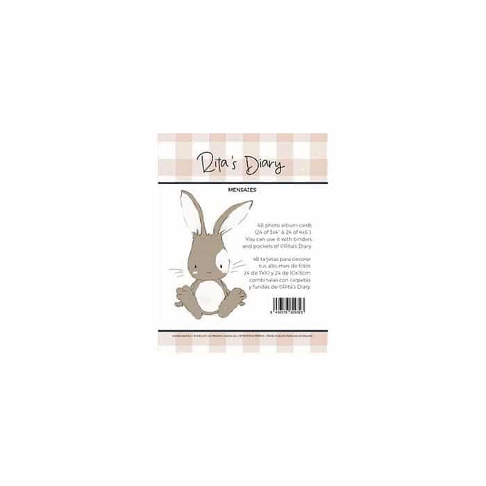 pack de tarjetas mensajes pequeño panda infantil bebé niño niña alúa cid scrapbook La esquinita del scrap México