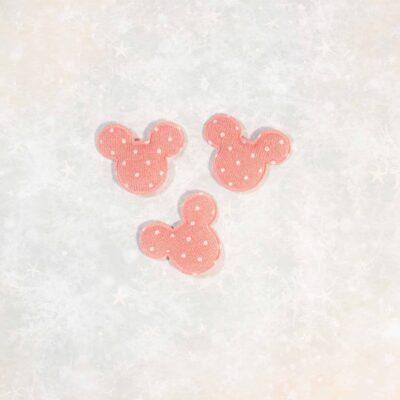 embellishment embellecedor disney mickey mouse felpa rosa La esquinita del scrap México