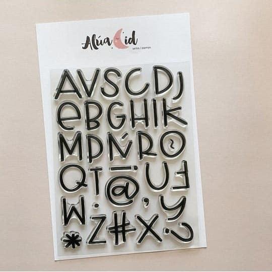 sello ABC Candy alfabeto abecedario Alúa Cid scrapbook La esquinita del scrap México