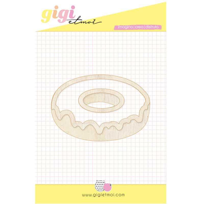 shaker donut FELIZ EN TU DÍA Gigi Et Moi scrapbook cumpleaños celebración La esquinita del scrap México