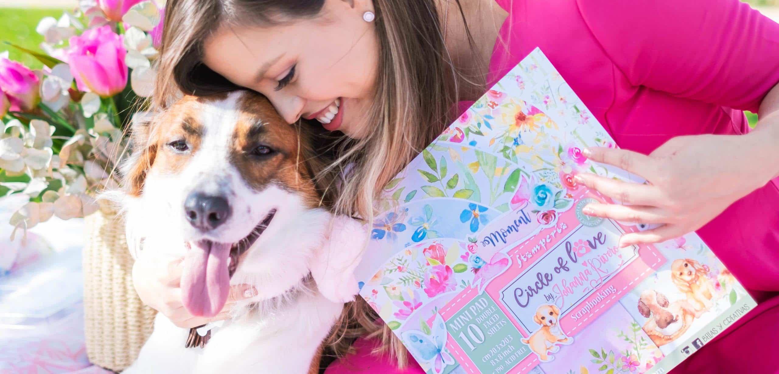 Círculo de amor Johanna Rivero Stampería mascotas perros familia scrapbook La esquinita del scrap México 3