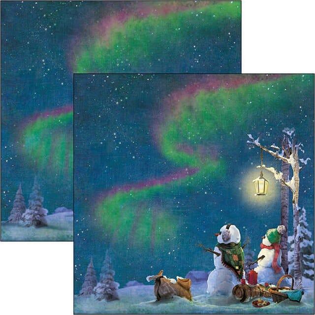 NORTHERN LIGHTS Ciao Bella scrapbook invierno navidad muñeco de nieve La esquinita del scrap México